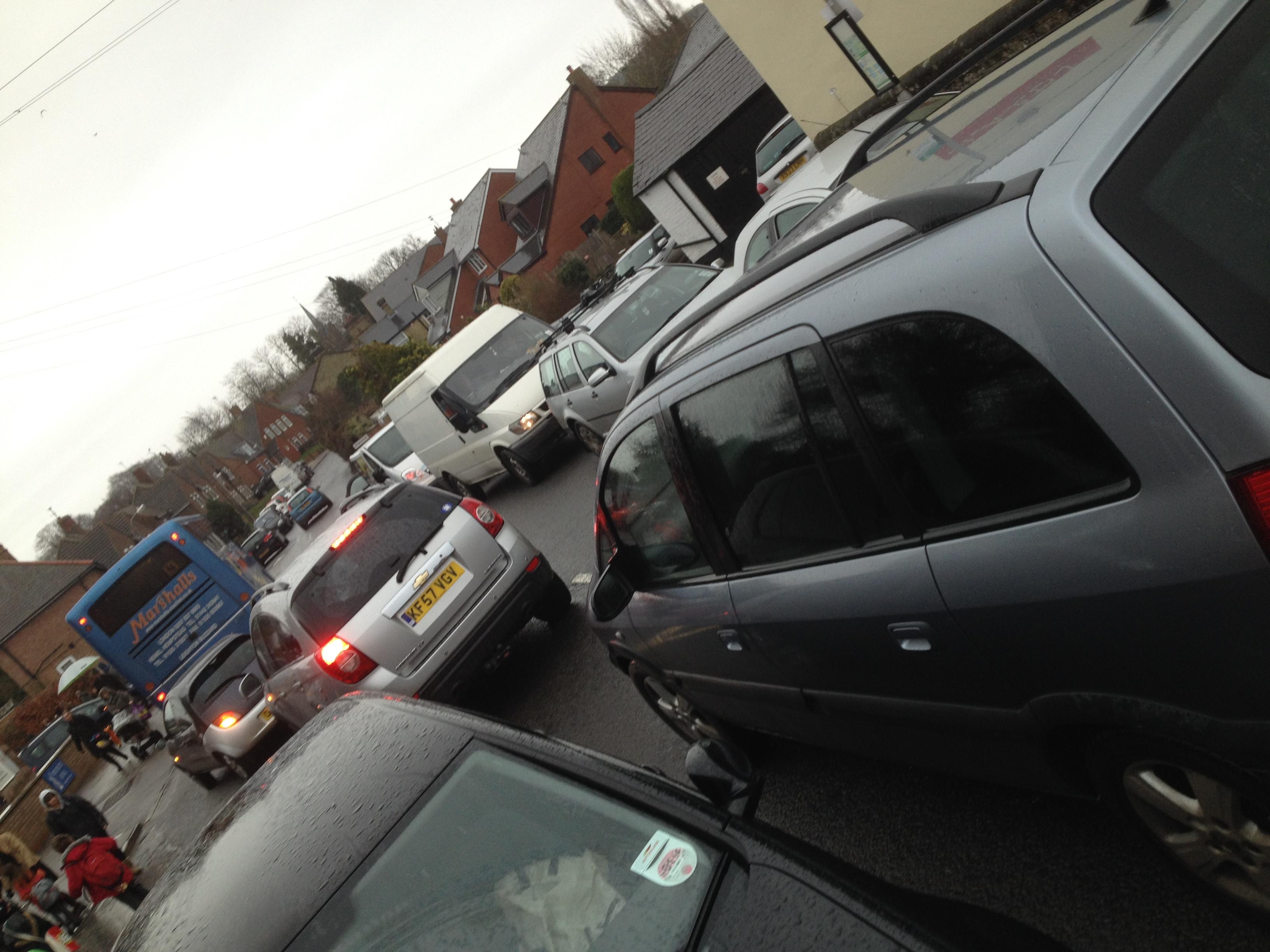 Parking outside school